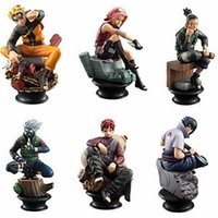 Wholesale Kakashi Hatake Action Figure - Wholesale-6PCS SET Anime Cartoon Naruto Figure Set Gaara Kakashi Sakura Uzumaki Hatake Toys PVC Action Figure Brinquedo Free Shipping