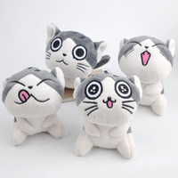 Wholesale cat teddies - Cat Meow Collection Mini Plush Stuffed Dolls Cute Small Pendant (Color: Grey)