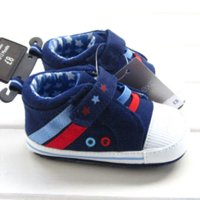 Wholesale Baby Girl Shoes Rubber Soles - 2015 new classic blue baby boys girls sneakers hard rubber sole toddler outdoor shoes non-slip pre-walker fist walker moccasins
