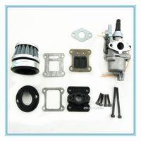 Wholesale Cdi Atv Engines - HP fibre carbon reed and carburetor kit for 2-stroke 47cc 49cc engine Mini Pocket Bike Dirt Bike and ATV-Quads