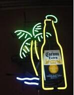 Wholesale bar signs corona - Corona Extra Palm Tree Bottle Handcrafted Neon Light Sign