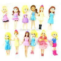 kızlar için en iyi yeni oyuncaklar toptan satış-Yeni, Yeni Karışık desen rastgele 12pcs gelmesi / set Sevimli Polly En Hediyeler İçin Kız Bebek Oyuncak Figürler Pockets