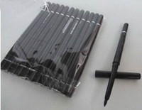 Wholesale Retractable Eyeliner - 12pcs lot FREE SHIPPING brand Makeup Rotary Retractable Black Eyeliner Pen Pencil Eye Liner