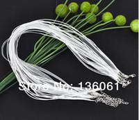 Wholesale Organza Ribbon Waxen Cord Necklace - Fashion White Organza Ribbon Waxen Multi-strand Organza Cord 3+1 Strands Necklace DIY Jewelry Making Strings Necklaces 200pcs Free Shipping