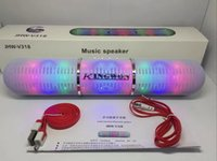 новые таблетки оптовых-Новый JHW - V318 Bluetooth колонки портативный беспроводной пульс таблетки светодиодные вспышки громкоговоритель Bulit в микрофон громкой связи колонки поддержка FM USB