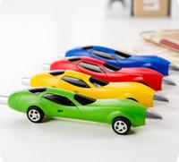 ingrosso penna a sfera per i bambini-New Stationery Cute Plastic Car Penne a forma di penna a sfera Creative Station Pen cancelleria per i bambini