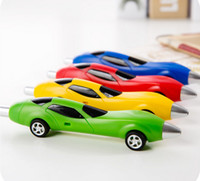 Wholesale New Stationery Cute Plastic Car Shape Pens Creative Ball Point Pen School Stationery pen for children