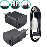 Wholesale samsung galaxy tab online - 2 in US EU UK Ac home travel wall charger power adapter usb Cable for samsung galaxy tab P1000 P7500 P6200 N8000