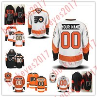 Wholesale cheap flyers jerseys online - Custom Philadelphia Flyers Mens Womens Youth OLD BRAND Black Orange White Third th Gold Stitched Any Name Number Cheap Hockey Jersey S XL
