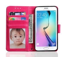 Leather original photo frames - Classic Photo Frame For Samsung S7 Case Flip Cover Wallet Luxury Original Colorful Cute Slim Leather Case For Samsung Galaxy S7 G930 G9300