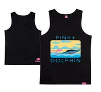 Wholesale Pink Dolphin Vest - Hot Sale Pink Dolphin Muscle Tank Tops Men Vest, Cool Summer Hip Hop Singlet Cotton Sleeveless Shirt Fashion Men's Undershirt