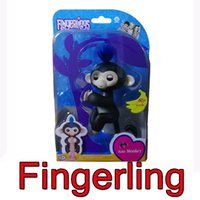 Wholesale Wholesale Hot Monkey - 2017 New Hottest Fingerlings Interactive With 6 Functions Baby Monkey Finger Toys Smart Touch Fingerling Monkey Six Color, Retail Package