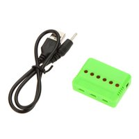 Wholesale Rc Helicopter Usb Charger - RC Helicopter Airplane 6-port USB Lipo Battery Charger for Hubsan H107L H107C WLtoys V977 JJCR H5C Syma X5C order<$18no track