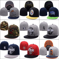 Wholesale Cheap New Fitted Caps - Wholesale-(20pcs lot)new arrive cheap men and women fitted caps,sport fitted hats,hiphop cap, baseball hats men fitted hats,free shipping
