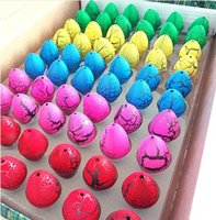 Wholesale Magic Gags - 60pcs  Lot Magic Dinosaur Eggs Toy For Kids Gifts Children Water Hatching Inflation Growing Dino Egg Novelty Gag Toys 2017