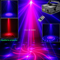 3 Objektiv RB Laser 24 Muster 300mw Laser Projektorerscheinen BLUE LED Club Party Bar DJ Licht Tanz Disco Home Party Bühnenlicht LB24