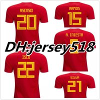 Wholesale Fabregas Shirt - 2016 2018 Spain jersey INIESTA RAMOS MORATA FABREGAS COSTA SILVA ISCO VAXI top quality spain football shirt soccer jersey