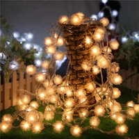 Großhandels-10M 100 LED-Schneeball-Fee-Schnur-Licht-Löwenzahn Weihnachten Hochzeit Xmas Party Startseite Outdoor Indoor Dekoration EU / UK / AU / US-Stecker