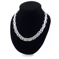 Wholesale Free Matting - Promotion Sale 925 silver men big TO Chains matting necklace Christmas fashion 925 Silver TO Chains necklace jewelry FREE Shipping 1373