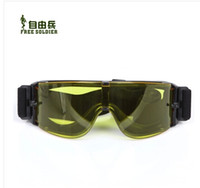 Wholesale Impact Lens - Wholesale-US ARMY Outdoor protective eyewear X800 tactical goggles bulletproof anti-impact windproof glasses 3 lenses Anti-UVA 400+