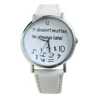 Wholesale Matter Color - Gofuly New It doesnt matter I am always late Irregular Figure Women Men Watches Quartz Watch reloj unisex