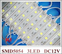 Wholesale Letters For Advertising Signs - super bright SMD 5054 LED module LED advertising light module for sign letter DC12V 3led 3*0.4W 1.2W 150lm IP66 waterproof