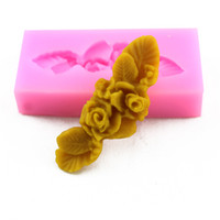 Wholesale Beautiful Soap Flower - Beautiful Flowers & Leaves Shape Silicone Soap Mold Fondant Cake Chocolate Mold Craft Pastry Mold Cake Decorating Tools Q022