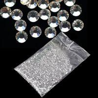 Wholesale Hot Fix Nail Art - Hot Selling!2014 new 20000pcs Clear Glitter 1.5mm Hot Crystal Rhinestone Fix Rhinestone 3d Nail Art Decoration b014 5915
