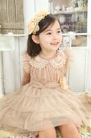 Wholesale Baby Girls Bubble Dress - high quality Ball Gown Children's ruffle dress Baby girl Bubble dress Princess girl dress
