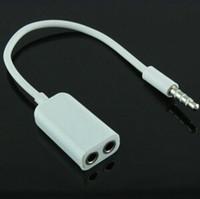 Wholesale Headphones Ipad2 - 3.5mm double jack Headphone splitter for iPod iPhone 4 4S iPad2 Earphone Accessories