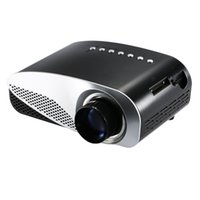 Wholesale Smart Home Audio Wholesale - Mini LED Projector 1080P Full HD Contrast Ratio 500:1 with HDMI SD USB Audio VGA AV for Home Theater Notebook Smart Phones V1858