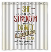 """Wholesale White Polyester Shower Curtain - Bible Verse White Home Fabric Modern Classical Custom Shower Curtain bathroom Waterproof 60""""x72"""" Free Shipping"""