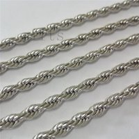 Wholesale Used Middle - Wholesale 10pcs 4mm 22in Rope chain stainless steel Necklace It can be used with a wide variety of pendants, a classic design necklace