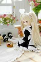 Wholesale Miku Wigs - Free Shipping Bunches Doll Wig, Synthetic Wig For 1 3 1 4 1 6 BJD   SD , Hatsune Miku Cosplay Doll Wig