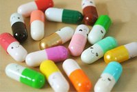 Wholesale Message Pills - Message in a Bottle Message Capsule Letter Cute Love Half Color Pill 50Pcs