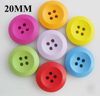 Wholesale Craft Wood Buttons Bulk - WBNNWN bulk sewing buttons 20mm 25mm Mixed colors 4 holes wood Button products for crafts