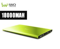 Wholesale Iwo Power Bank - 18000mAh Ultra Slim Power Bank Dual SMART USB Port 5V 2.4A External Mobile Battery Charger Pack Universal