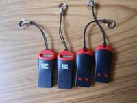 micro hc großhandel-Hochgeschwindigkeitspfeife Design USB 2.0 Micro SD Kartenleser HC T-Flash TF Speicher SD Kartenleser Kartenadapter