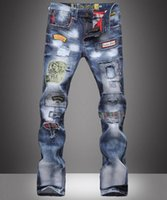 Where to Buy Denims Torn Jeans Men Online? Buy Red Jeans Zippers