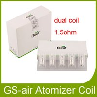 Wholesale Wholesales Suits - Authentic Ismoka Eleaf GS Air 2 Coil Head 1.5ohm 1.2ohm 0.15ohm 0.75ohm Replacement TC dual coils Suit GS Air Atomizer 100% Original