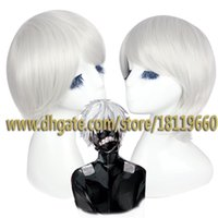 Wholesale Dramatical Murder Wig - Big discount!!! Hot Sell!!! New Dramatical Murder DMMD Clear Short Silver White Cosplay Wig Soul Eater Soul Shor wig