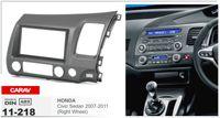 Wholesale Honda Civic Right - CARAV 11-218 Top Quality Radio Fascia for HONDA Civic Sedan 2007-2011 (Right Wheel) Stereo Fascia Dash CD Trim Installation Kit