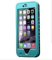 Wholesale Iphone Covers Factory - Redpepper Waterproof Case For Iphone 6 4.7 Plus 5.5 Shockproof Snowproof Hard PC TPU Back Cover fingerprint Retail Package factory sale