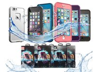 Wholesale Plastic Waterproof Cases - AAA++ quality Waterproof Shockproof Snowproof Dirt Snow Proof Case For Iphone 6 4.7 Retail Package