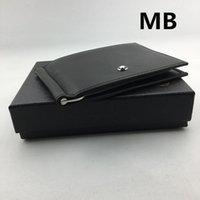 Wholesale Black Money Case - Black Genuine Leather Credit Card Holder Wallet Classic Brand Designer Men Metal Money Clip for Travel 2018 New Arrivals ID Card Case Purse