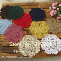 Wholesale 16 Vases - Free shipping ZAKKA design 2013 new arrival 20pic lot 16 colors lace mat fabric doilies as novelty house hold for cup pad vase