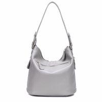 metal küçük çanta toptan satış-Tasarımcı Metal Püskül 100% Gerçek Hakiki Deri Kadın Küçük Omuz Tote Çanta Bayanlar Crossbody Çanta
