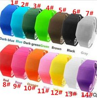 Wholesale Screen Color Squares - best price hot sale 14 color feeling screen watches Soft Led Touch watch Jelly Candy silicone digital D580