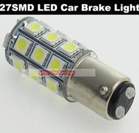 Wholesale S25 27 - Wholesale P21 5W S25 BAY15D 1157 27SMD 5050 LED Car Brake Lights Stop Lights 500PCS lot 1027#27