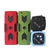 Wholesale colors audio resale online - PT A Outdoor Speakers Bluetooth Hand Free U Disk mm Aux Port Super Bass Speaker Colors DHL Free MIS091
